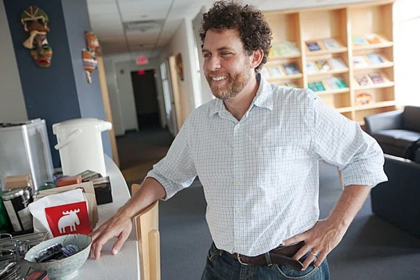 """""""Teaching is something that I really love,"""" said Joshua Greene, who, along with Selim Berker, is a recipient of the Roslyn Abramson Award. """"As a researcher, you focus on the frontiers and the edges, but the undergrads that you teach are coming into this all new."""""""