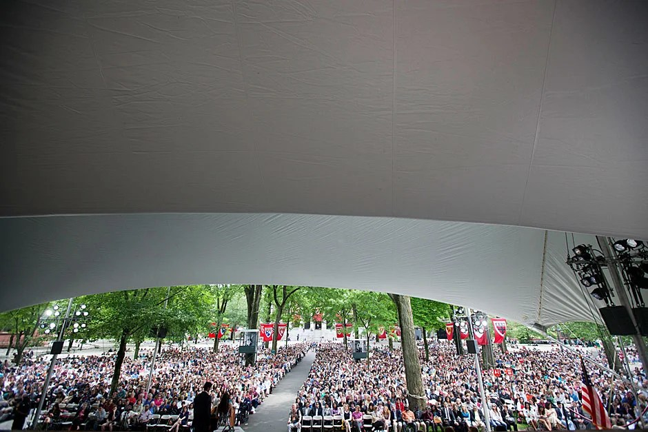 Views of Class Day inside Tercentenary Theatre. Former CNN anchor Soledad O'Brien was the day's main speaker. Kris Snibbe/Harvard Staff Photographer