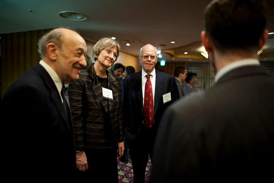 Drew Faust attends Harvard Club of Japan Dinner