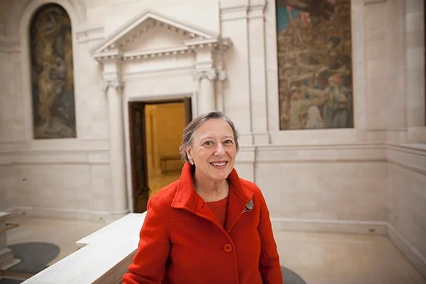 """""""I've been associated with Harvard for a large part of my adult life in one way or another, and I thought, 'Gosh, if there's a way I can help bring this institution together, I would like to do it,' """" said Sarah Thomas, the vice president of Harvard Library, who is also the newly appointed Roy E. Larsen Librarian of the Faculty of Arts and Sciences."""
