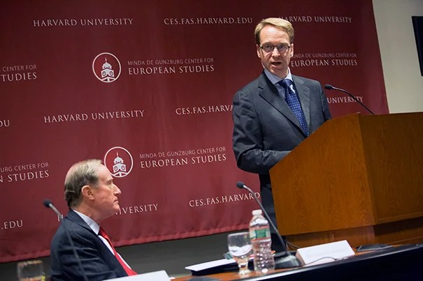 "Jens Weidmann, president of the German Central Bank, delivered the inaugural speech at the Center for European Studies' European Economic Policy Forum, telling the crowd that ""piling more and more stabilization tasks onto monetary policy, stability will prove ever more elusive."""