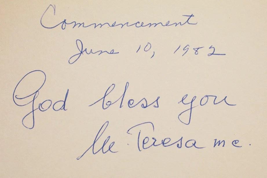 Mother Teresa, 1982