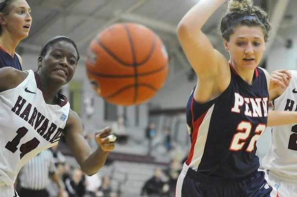 Harvard lost to Penn 63-50 on Friday. Temi Fagbenle '15 (left, photo 1) notched a double-double and Christine Clark '14 (left,  photo 2) eclipsed the 1,600-point plateau. Harvard (photo 3) plays Princeton tonight.
