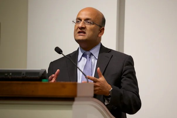 """""""Infrastructure is the one great thing that unites us all because we all benefit from it in so many ways,"""" said Dean Nitin Nohria of the Business School."""