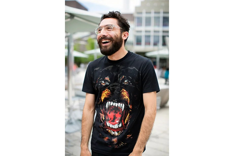 """""""I like wearing black, though it's not the first thing you plan on wearing in the summer,"""" said Francisco Quiñones, a 2014 GSD graduate teaching a summer course."""