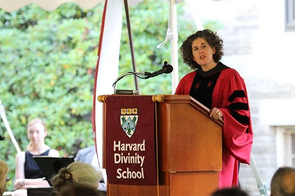 "The School held its 199th Convocation as hundreds of incoming students, faculty in academic robes, and other HDS community members gathered under a tent on the Andover Hall lawn and listened to Harvard Professor Laura S. Nasrallah deliver her address, ""The Matter of Religion and Theology."""