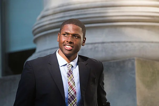 """""""As far back as second grade, I've wanted to go to law school, and attending HLS is a dream,""""  said Aldel Brown (photo 1), who joined Harvard Law School's Class of 2017 this fall. Brown credits Boston's Tenacity tennis program with helping him to develop the drive and skills needed to succeed. During the summer, Brown returned as a Tenacity volunteer (photos 2, 3), something he plans to continue throughout his time at Harvard."""