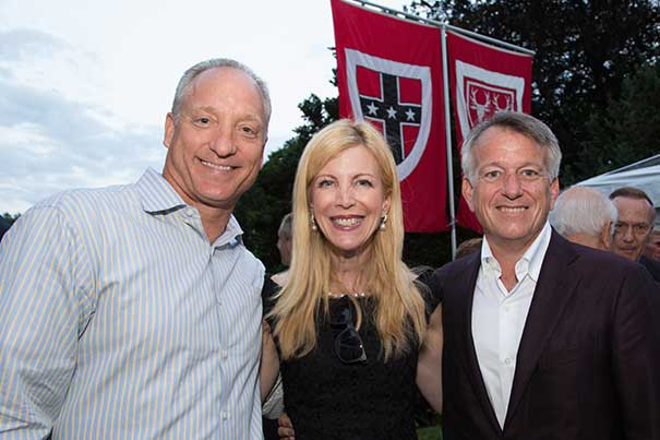 "FAS Dean Michael D. Smith (from left) has been named the Edgerley Family Dean of the Faculty of Arts and Sciences. The deanship is a first for Harvard and stands in recognition of the sustained support by Sandra Matejic Edgerley and Paul B. Edgerley. ""The Edgerley Family Deanship is a fitting recognition of their efforts to help Harvard lead in research and teaching for generations to come,"" said Harvard President Drew Faust."