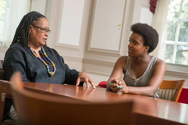 """I understood the value of mentoring because I had lots of mentors,"" said Harvard Professor Evelynn M. Hammonds, who mentored Savannah Turner (right) as part of the Summer Research Opportunities at Harvard program. Turner is a junior at Wesleyan University."