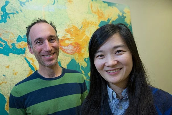 """Starting with a 45,000-year-old Siberian thighbone, research by Qiaomei Fu (right), a postdoctoral fellow at Harvard Medical School, and Professor David Reich has narrowed the window of time when Neanderthals and humans crossbred. """"Even if we cannot be sure of whether all the interbreeding occurred at once, the big picture is that we can be sure that the recent ancestors of this individual interbred with Neanderthals,"""" said Fu."""