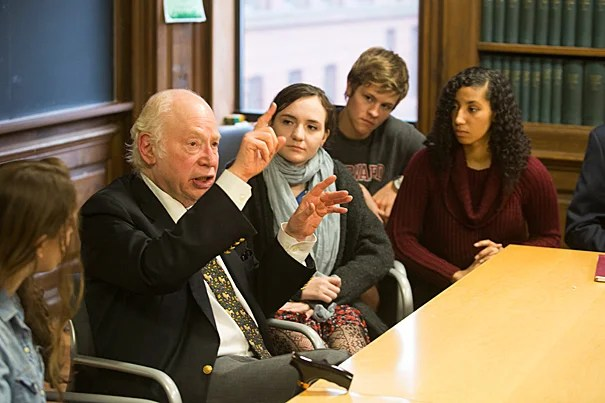 "Nobel winner Steven Weinberg brought his thoughts on a ""theory of everything"" to the Physics Department's Lee Historical Lecture."