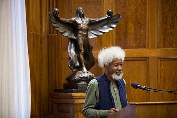 Wole Soyinka, a former political prisoner who became in 1986 the first black African to win the Nobel Prize in literature, spoke at the Barker Center in the wake of a historic vote in Nigeria. Henry Louis Gates Jr. (photo 2), the Alphonse Fletcher University Professor at Harvard and a former student and longtime friend and colleague of Soyinka's, joined in the conversation.
