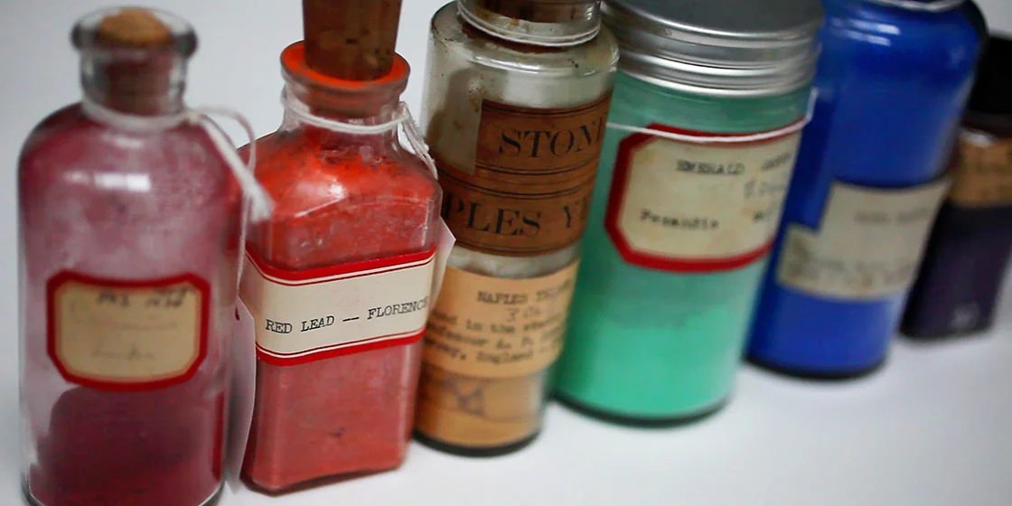 Curious visitors who turn left off the Harvard Art Museums' elevators on the building's fourth floor are greeted by the Forbes Pigment Collection, a floor-to-ceiling wall of color compiled from about 1910 to 1944 by the former director of the Fogg Museum.