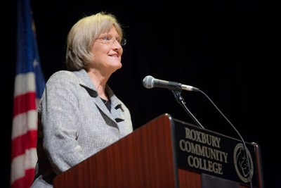 During a gathering of mayors from cities and towns across the nation, President Drew Faust argued that investment in education is the key to addressing inequality and creating opportunity.