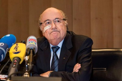 """An ethics committee barred longtime FIFA President Joseph """"Sepp"""" Blatter (pictured) and Michel Platini, president of the Union of European Football Associations, from the sport for eight years for ethics violations in connection with a $2 million payment that Blatter made to Platini in 2011."""