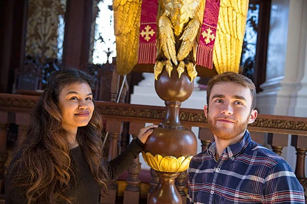 Ana Barros '16 and Ted White '17 are members of the Harvard First Generation Student Union, which is hosting 1vyG 2016, a conference for first-generation students from Ivy League institutions, this weekend at Harvard.