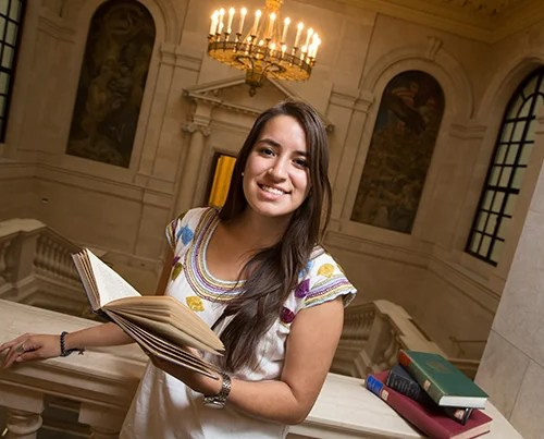 """""""You never accomplish anything alone,"""" says Andrea Ortiz '16. An immigrant who grew up in Miami, she wants to help others gain the same opportunities she has been given."""