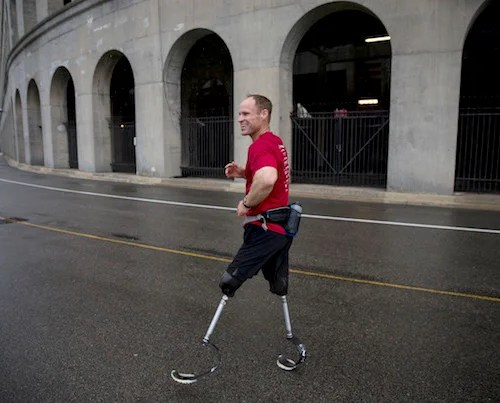 """Daniel Cnossen is a former Navy SEAL who lost both his legs below the knee after stepping on an IED in Afghanistan. He is training for the 2018 Winter Paralympics in South Korea. """"I would credit being an athlete to living through what I went through,"""" he says."""
