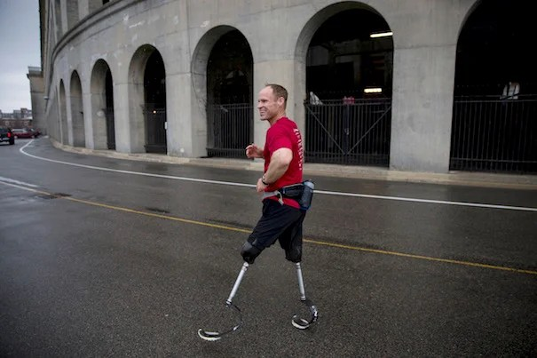 "Daniel Cnossen is a former Navy SEAL who lost both his legs below the knee after stepping on an IED in Afghanistan. He is training for the 2018 Winter Paralympics in South Korea. ""I would credit being an athlete to living through what I went through,"" he says."
