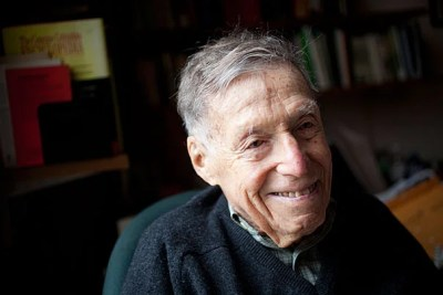 Daniel Aaron, the Victor S. Thomas Professor of English and American Literature Emeritus, died at 103 on April 30. Among his friends were literary luminaries such as Robert Frost, Ralph Ellison, and Truman Capote. He was awarded the National Humanities Medal in 2011.