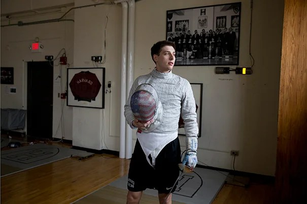 Eli Dershwitz is the No. 1 ranked saber fencer in the U.S., and currently tied for 11th in the world. Rose Lincoln/Harvard Staff Photographer