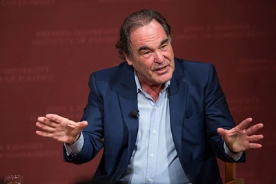 Filmmaker Oliver Stone discusses his new movie on Edward Snowden with author and journalist Ron Suskind at the JFK, Jr. Forum at the Harvard Kennedy School.