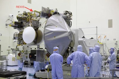 The OSIRIS-REx spacecraft — prior to installation of thermal blankets — will embark on a mission that involves the work of 50 Harvard and MIT students.