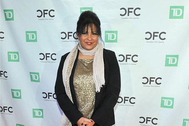 "Pam Grier on the red carpet at the Black History Month event ""An Evening with Pam Grier"" 2012 Credit: Canadian Film Centre from Toronto, Canada/Creative Commons"