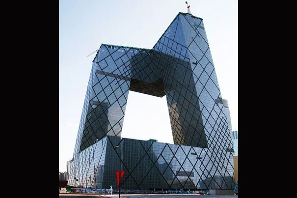Rem Koolhaas and Ole Scheeren of OMA were the architects in charge for China's Central TV Headquarters, while Cecil Balmond at Arup provided the complex engineering design. Credit: poeloq https://www.flickr.com/people/poeloq/ Creative Commons (please add link
