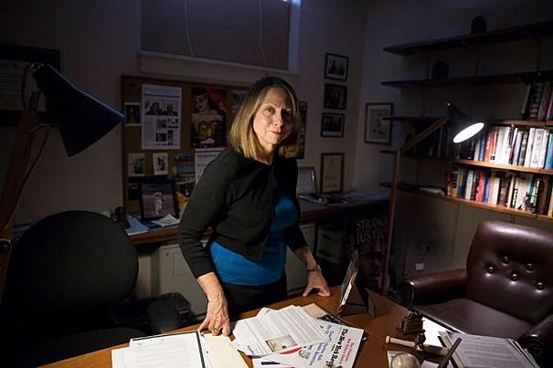Jill Abramson, former executive editor of The New York Times, returned to Harvard in the fall as a visiting lecturer in the Department of English. She is pictured in the Barker Center at Harvard University. Stephanie Mitchell/Harvard Staff Photographer