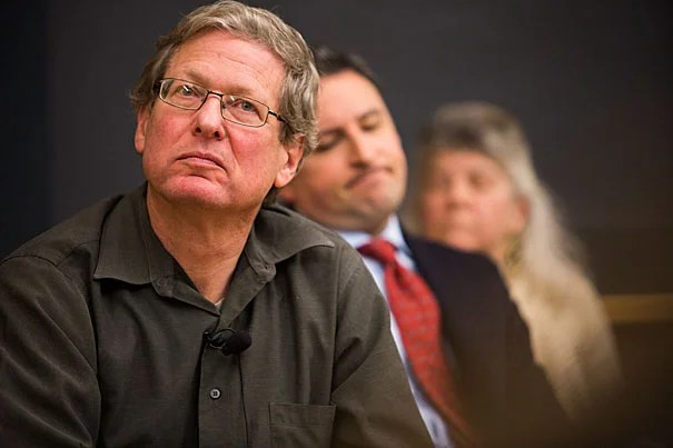 """Jeffry Frieden (from left), Eric Nelson, and Jennifer Hochschild participate in """"Trump's America: What's Next? A Post-Election Panel,"""" hosted by the Department of Government."""