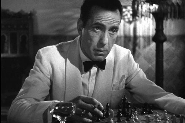 "Humphrey Bogart portrays expatriate Rick Blaine in the classic film ""Casablanca,"" which marks its 75th year."