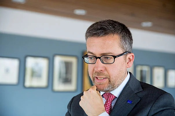 "Carlos Moedas, European Union Science Commissioner, spoke about science in the ""post-truth"" era and the importance of respecting evidence in a democracy. ""If you want to do good policymaking, if you want to make good decisions, [they] have to be based on evidence, based on facts."""