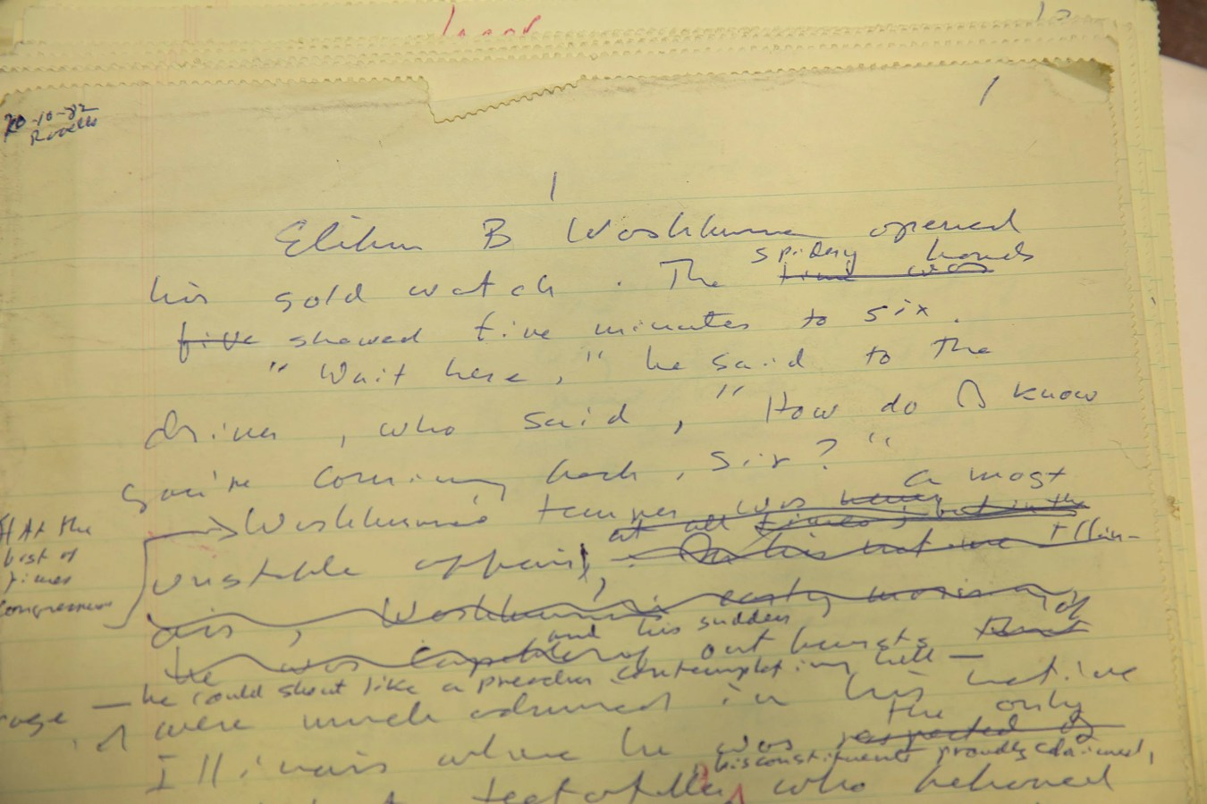 "Longhand draft of ""Lincoln"" by Gore Vidal."