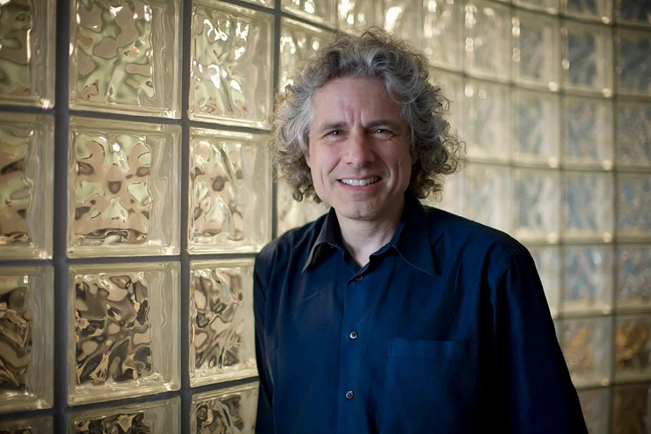 Steven Pinker lists office hours in the syllabus and makes individual appointments.