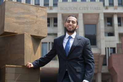 """It became important to me to look at how I could create meaningful community support ... especially [for] those who are minorities and those of color who are sometimes falling through the cracks in our system,"" said Omar Khoshafa '17, a Harvard Presidential City of Boston Fellowship recipient."
