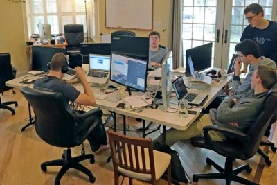 After a two-year absence helping cultivate  Quorum, five students return to Harvard. The development team members hard at work in the company's rented house on the outskirts of Washington, D.C