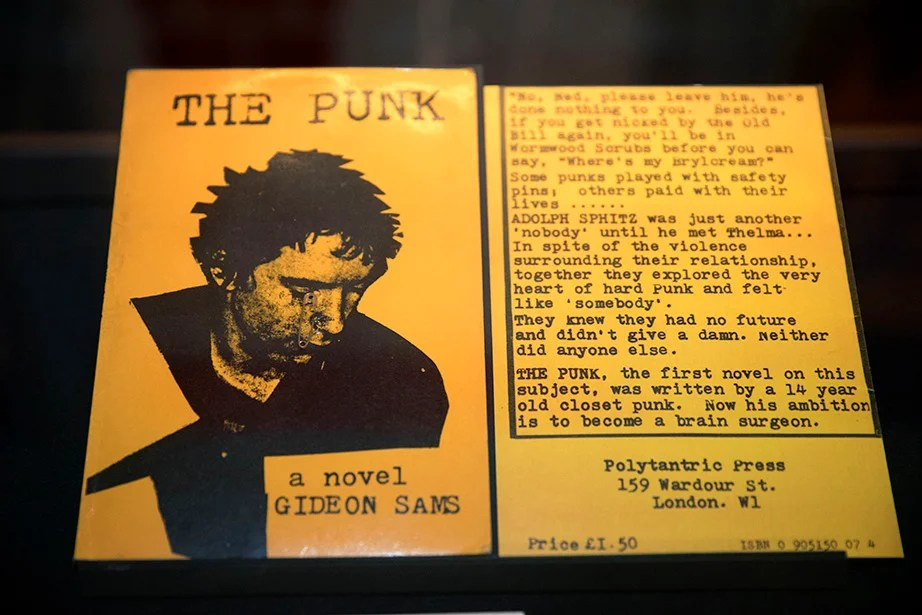 The punk rejection of establishment values is depicted in this short novel, written as a school project. Kris Snibbe/Harvard Staff Photographer