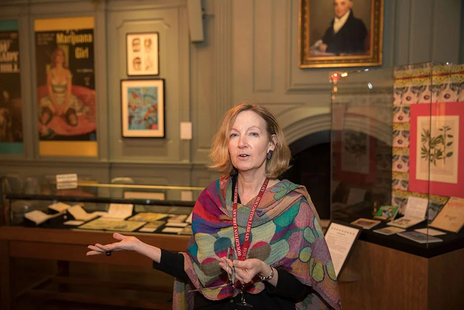 Leslie Morris, Curator of Modern Books & Manuscripts, Houghton Library. Kris Snibbe/Harvard Staff Photographer