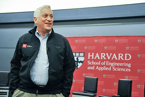 """Part of his imagination comes from just being so observant about things we forget to study after we outgrow our wonder years…"" says author Walter Isaacson '74 of Leonardo da Vinci, the subject of his most recent biography. File photo by Jon Chase/Harvard Staff Photographer"