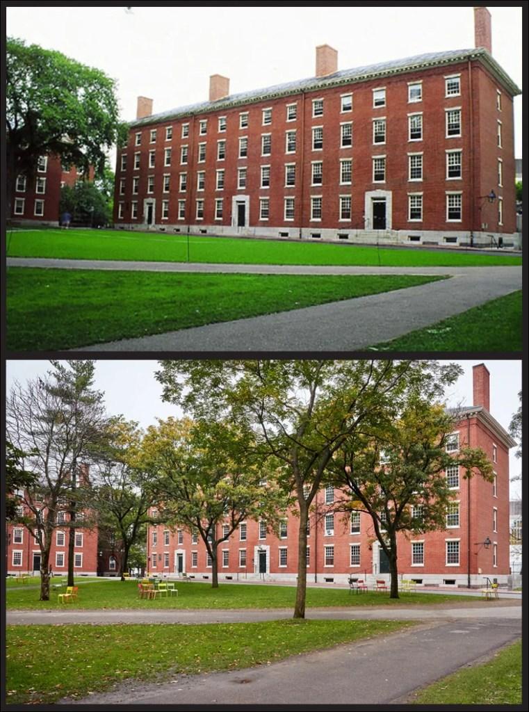 Holworthy Hall, 1990s vs. 2017