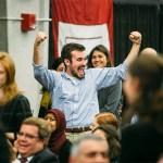 Ben Kelly '17 celebrates