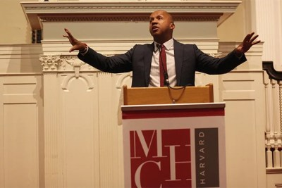 """Slavery didn't end in 1865. It just evolved. It turned into decades of terrorism, violence, and lynching,"" said Bryan Stevenson '85, delivering the 2017 Tanner Lecture on Human Values."