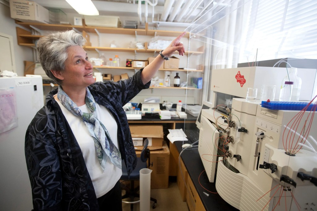 Catherine Dulac in her lab