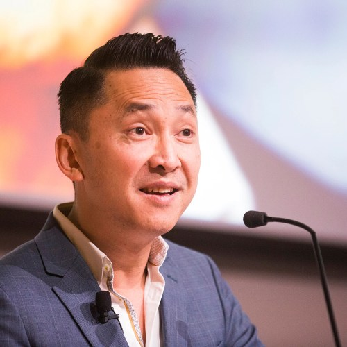 """Viet Thanh Nguyen, RI '09, shared the story behind his Pulitzer Prize-winning novel """"The Sympathizer"""" during a talk that covered history, identity, and politics in his writing."""