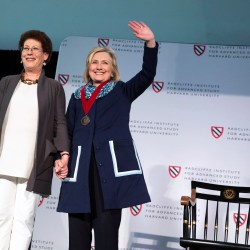 Hillary Clinton receives Radcliffe Medal
