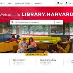New library website provides digital front door to Harvard resources