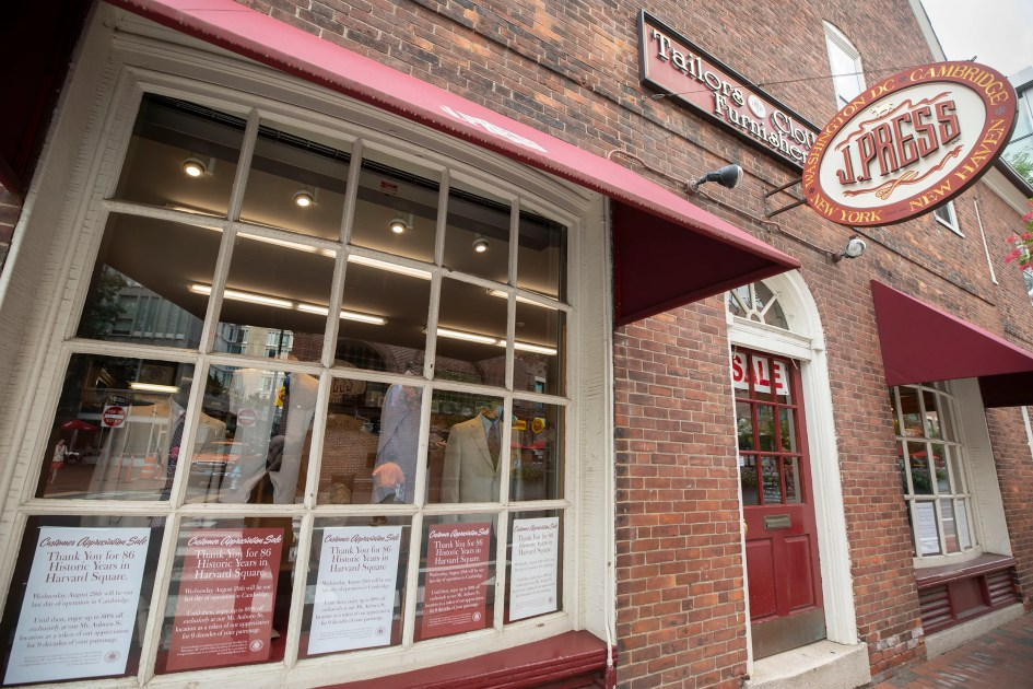 After 86 years, iconic J. Press to close Harvard Square store