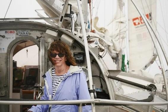 Colleen Cavanaugh aboard the Tara. Photo courtesy of Celine Belanger/Tara Expedition Foundation