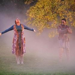 Fog-draped Arboretum sets stage for 'Macbeth'